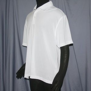 Short Sleeve White Collared Polo